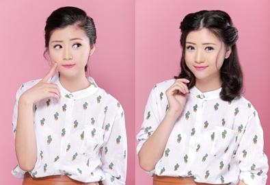 4 kiểu tóc xinh xắn cho nàng mặt tròn