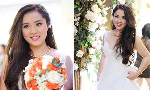 Bảo Trâm Idol chọn váy cưới đơn giản hợp vẻ tròn trịa