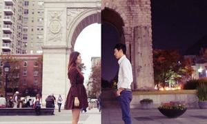 Cặp đôi yêu xa chụp bộ ảnh độc đáo, hút like Facebook
