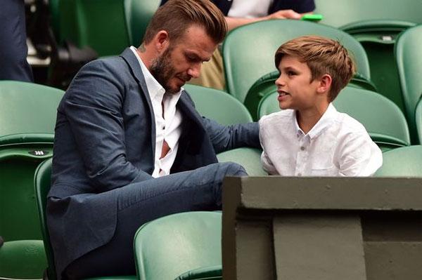 Becks vừa buồn vừa vui khi Romeo không muốn theo nghiệp bóng đá.