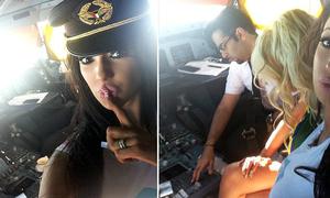 Cơ trưởng bị cấm bay vì mời sao khiêu dâm vào buồng lái