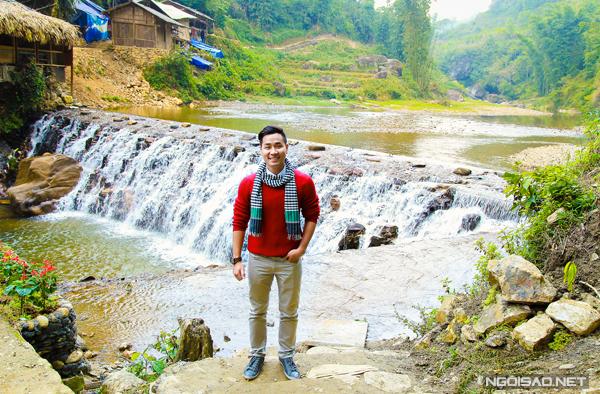 Cảnh sắc thiên nhiên tươi đẹp của Sapa khiến Nguyên Khang rất thích thú.