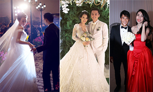 Khoảnh khắc đáng nhớ trong 5 'đám cưới của năm'