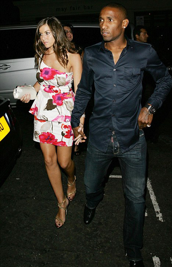 JERMAIN DEFOE & IMOGEN THOMAS | Thomas was crowned Miss Wales in 2003 and competed at Miss World. She dated Jermain Defoe for a period and was linked with other footballers.