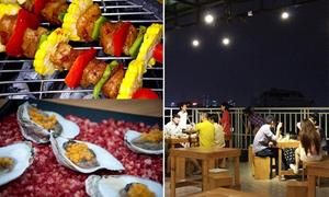 Quán nướng ngon rẻ trên sân thượng ở Sài Gòn