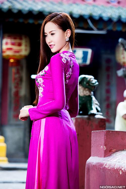 Bộ ảnh được thực hiện bởi photo: Bảo Lê, makeup: Bi Nguyễn, trang phục: Áo dài Minh Châu.