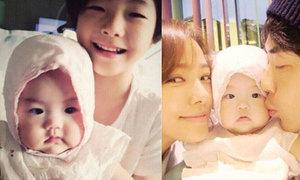 Vợ chồng Kwon Sang Woo khoe ảnh con gái tròn 1 tuổi