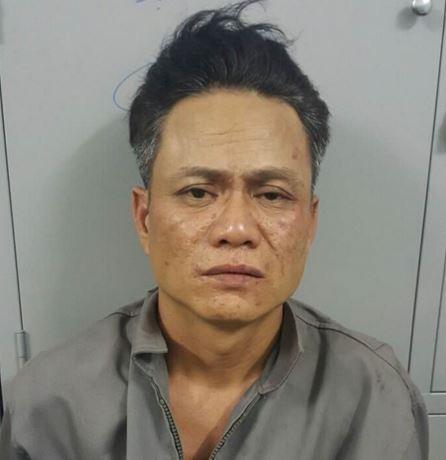 Nguyễn Văn Tuấn tại cơ quan công an.