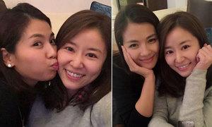 Lưu Đào hôn má Lâm Tâm Như mừng sinh nhật 40 tuổi