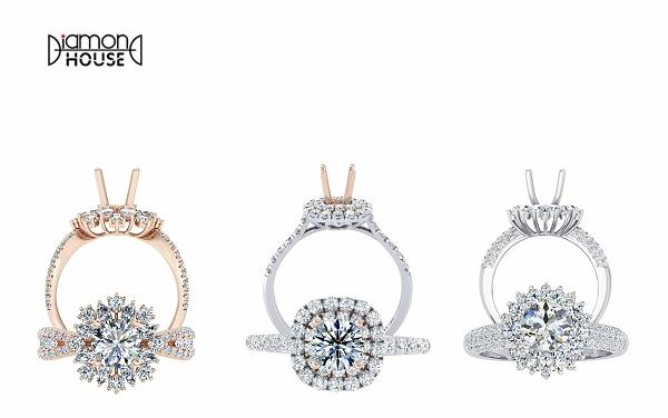 Trang sức kim cương ổ (vỏ) với nhiều thiết kế khác nhau, tôn vẻ đẹp của viên đá chủ, có ưu đãi 15%.