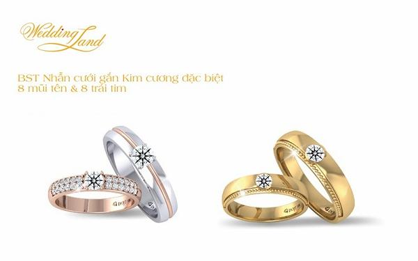Niềm vui năm mới sẽ được nhân đôi nếu trong ngày đầu xuân, một nửa của bạn được gửi trao chiếc nhẫn nằm trong bộ sưu tập nhẫn cưới gắn kim cương đặc biệt 8 mũi tên 8 trái tim. Với ưu đãi 15%, bạn sẽ tiết kiệm khoản ngân sách đáng kể dành cho vật đính ước thiêng liêng của hôn lễ.
