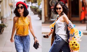 Đoan Trang khoe street style độc đáo