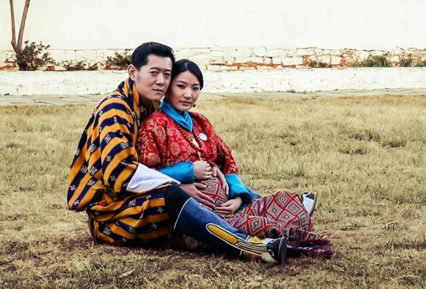 Vợ chồng quốc vương Bhutan.