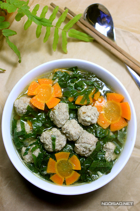 Món canh có cách chế biến đơn giản, ngon miệng, mang lại cảm giác ấm bụng rất dễ chịu.