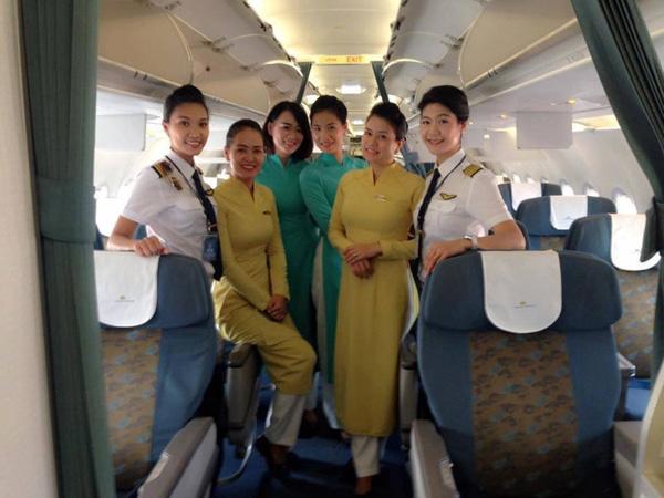 Đội bay toàn nữ đã thực hiện 4 chuyến bay thành công.
