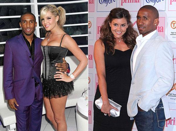 Hai tình cũ đáng chú ý của Defoe là cựu hoa hậu Anh Danielle Lloyd (trái) và Hoa hậu xứ Wales 2003, Imogen Thomas.