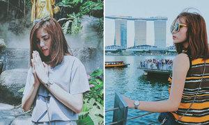 Lần đầu 'đi bụi' Thái Lan - Singapore của Kỳ Duyên
