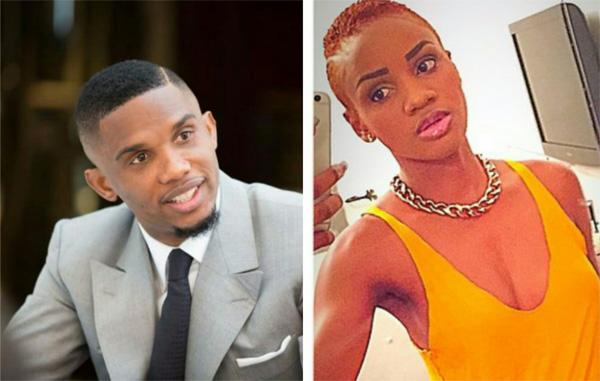 Eto'o đang lao đao vì cô bồ cũ Nathalie Koah.