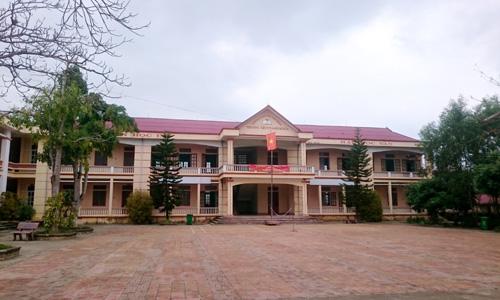 Trường THCS Định Hòa nơi xảy ra vụ việc. Ảnh: Lê Hoàng.
