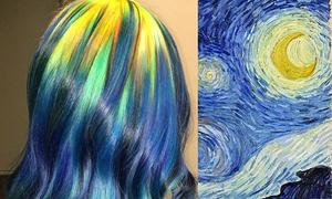 Cô gái có biệt tài biến màu tóc theo các tác phẩm nghệ thuật