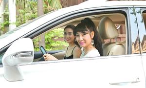 Uyên Thảo lái xe 4 tỷ chở Cao Mỹ Kim đi event