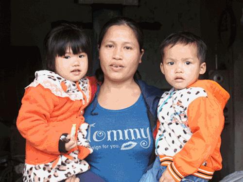 Chị Thủy cảm thấy hạnh phúc và coi hai đứa con này như khúc ruột của mình.
