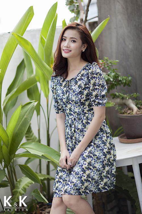 Đầm xòe công sở KK55-25 giá 400.000 đồng.