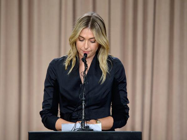 Sharapova bình tĩnh thông báo về việc dương tính với chất cấm