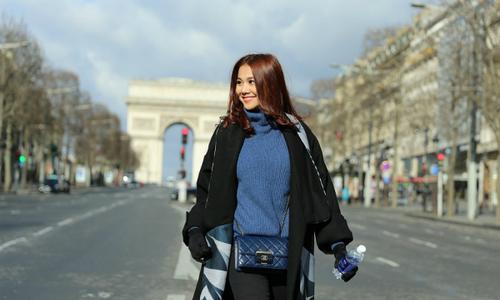 Thanh Hằng, Harry Lu đẹp ấn tượng tại Paris