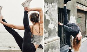 Cô gái 9x hút fan nhờ các bức ảnh tạo dáng yoga khó