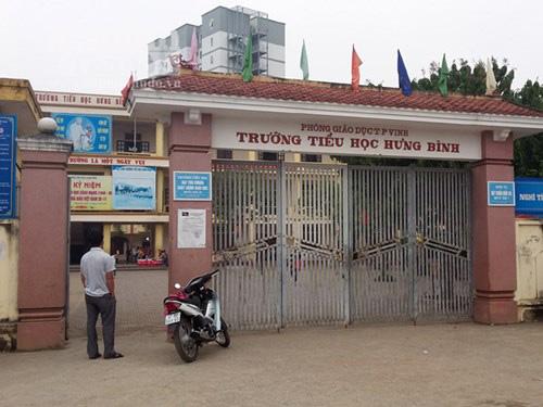 Trường tiểu học Hưng Bình nơi xảy ra sự việc
