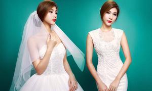 Kim Dung quyến rũ cùng váy cưới mùa hè
