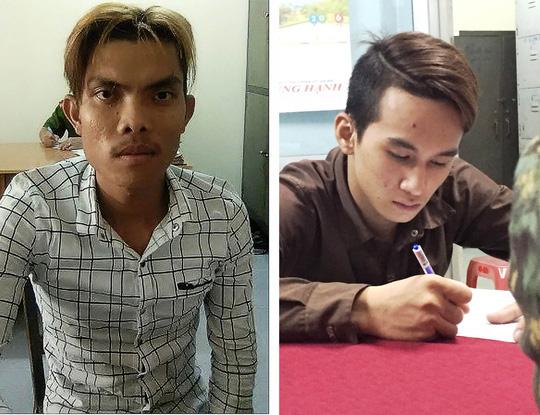 Hai nghi can Nguyễn Hoàng Anh Phụng (trái) và Huỳnh Ngọc Định (phải) được thả sau khi gây án.