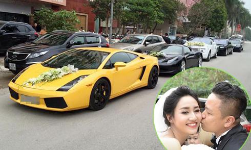 Dàn siêu xe 'khủng' trong đám cưới Á hậu Trà My