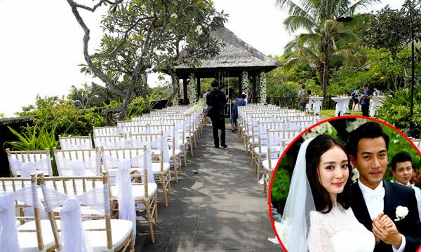 Không gian tiệc cưới của Lưu Khải Uy và Dương Mịch ở resortBulgari.