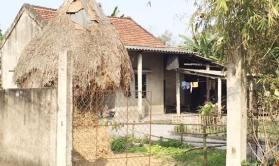 Ngôi nhà nơi được cho là xảy ra sự việc ông cụ U70 nhiều lần hiếp dâm cháu bé 14 tuổi dẫn đến có thai.
