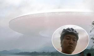 Facebooker ở Huế chụp được ảnh đám mây lạ hình đĩa bay