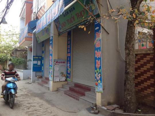 Trường mầm non Sao Tuổi Thơ đóng cửa sau cái chết của cháu Hoàng Tiến Quyết. Ảnh: Nguyễn Hưởng.