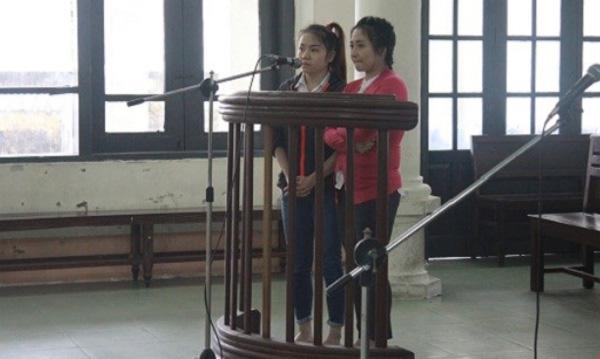 Liên và Minh tại phiên tòa sơ thẩm.