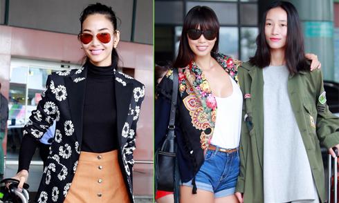 Dàn người mẫu khoe dáng ở sân bay Nội Bài