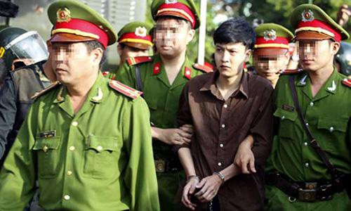 Bị cáo Nguyễn Hải Dương tại phiên xét xử sơ thẩm lưu động tại Bình Phước.