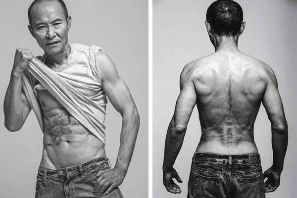Thân hình khỏe mạnh cơ bắp của ông Liang là niềm mơ ước của nhiều thanh niên trẻ. Ảnh: Metro
