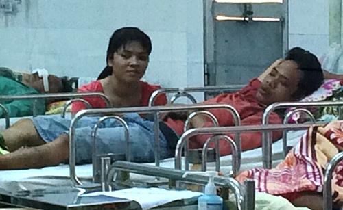 Anh Phong bị chấn thương sọ não đang điều trị tại bệnh viện. Ảnh: Hải Hiếu.