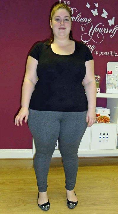 Natalie to béo, đẫy đà trước khi giảm cân. Ảnh: Caters