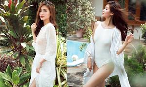 Diễm Trang sexy cùng váy áo xuyên thấu
