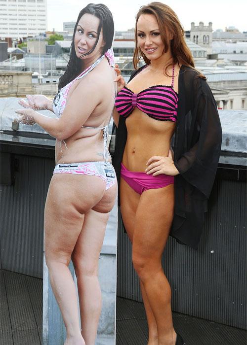 Bản sao của Vic với thân hình gọn gàng, nuột nà bên cạnh bức ảnh béo mập của mình chỉ nửa năm trước.