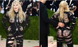 Madonna 'phản pháo' về bộ đồ hở hang quá đà ở Met Gala