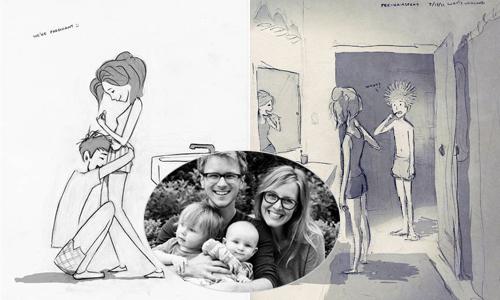 365 ngày yêu của vợ chồng Mỹ qua các bức phác họa