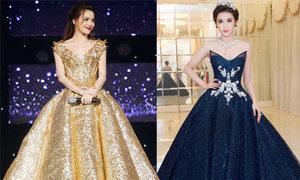 Sao Việt đua nhau hóa công chúa với đầm cổ tích