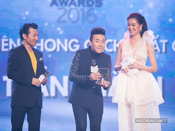 Tại đêm trao giải, Trấn Thành vinh dự nhận được giải thưởng 'Nam diễn viên phong cách nhất năm'.